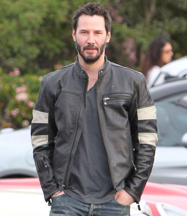 Keanu Reeves Leather Jacket Photo