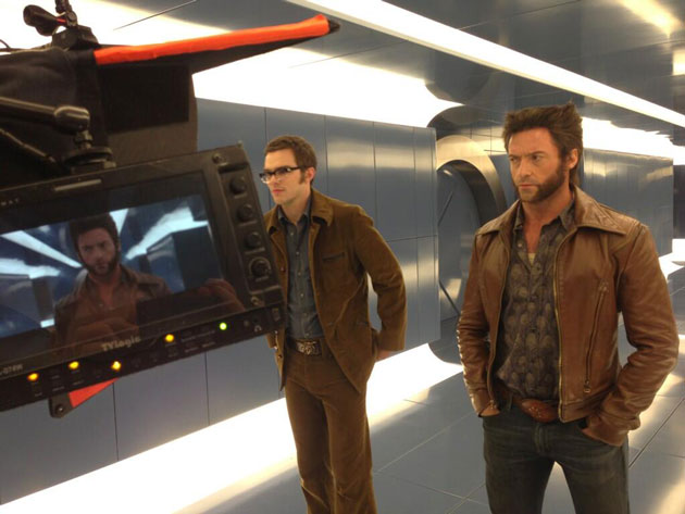 X-men Days Of Future past wearing Leather Jacket