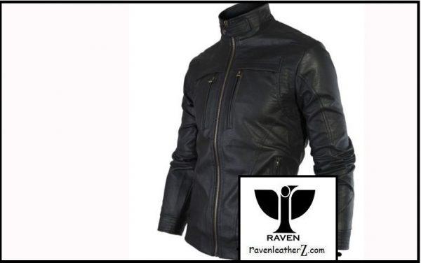Photo of High Neck Moto Rider jacket Slim Cut:02