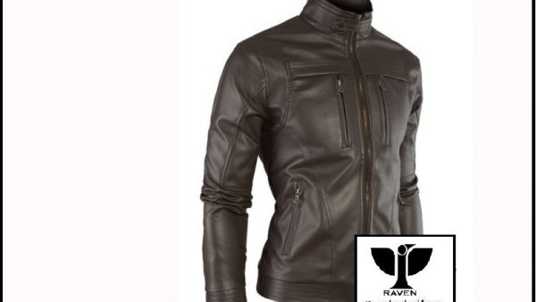 Black Moto Rider Jacket Slim Cut:10