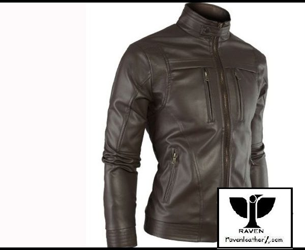 Black Moto Rider Jacket Slim Cut:10