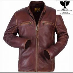 Slim Cut:06 Men's Genuine Leather Vintage Look Jacket