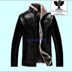 Slim Cut:08 Men's Genuine Leather Fur Lining Jacket