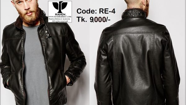 slim-fit casual leather jacket RE:04 photo