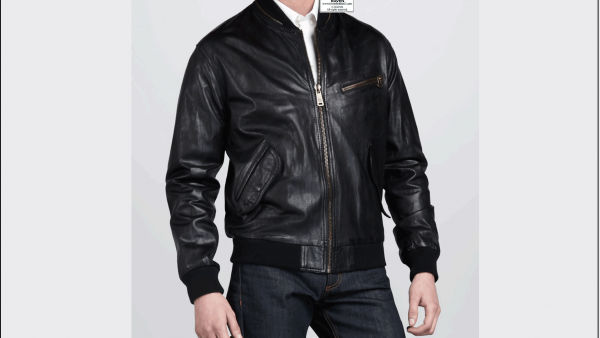 Stylish Black Bomber Jacket RW:16