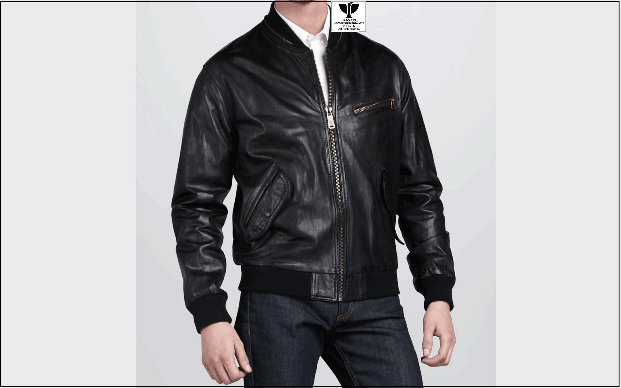 Stylish Black Bomber Jacket RW:16