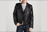 RW:08 Men's Genuine Leather Classic Biker Jacket