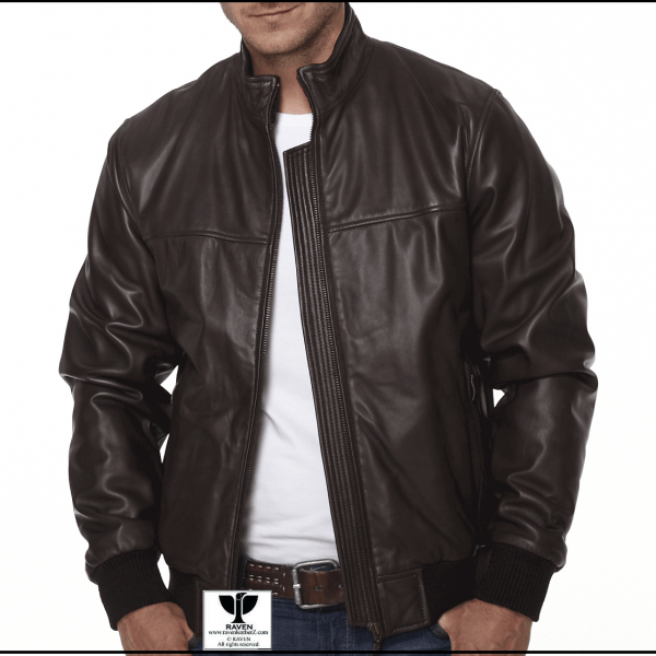 RW:02 Men's Genuine Leather Bomber Jacket