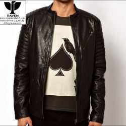 RR:02 Men's Genuine Leather Quilted Lining Jacket