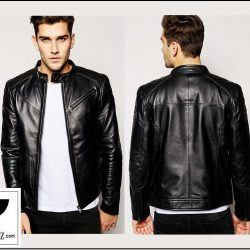 RE:02 Men's Genuine Leather Motorcycle Rider Jacket
