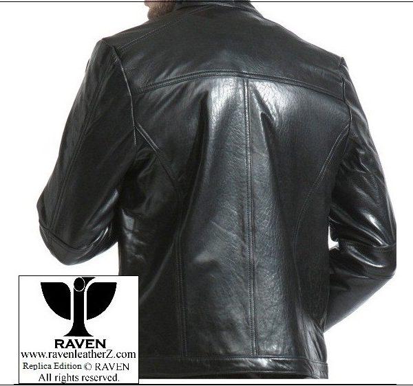 RAVEN Men leather Jacket back part from bangladesh