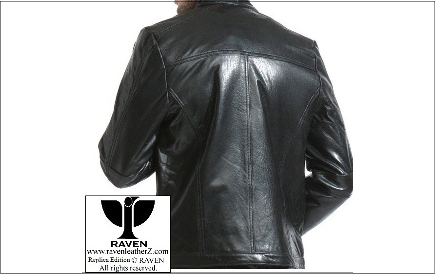 RAVEN Men leather Jacket back part from bangladesh