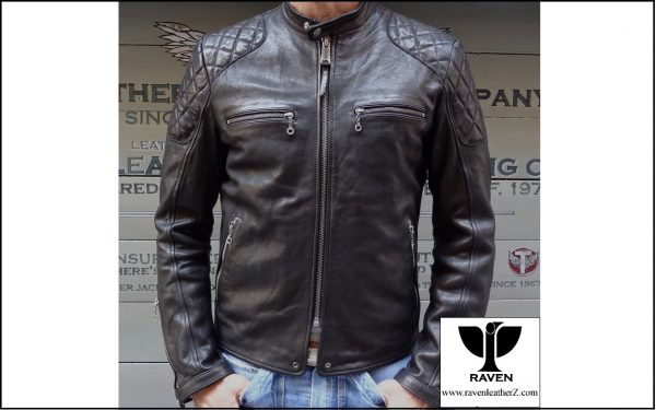 Quilting Shoulder Moto Jacket RR:08