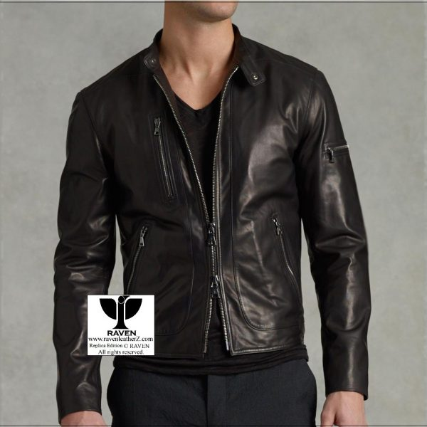 RZ:02 Men's Genunine Leather Short Length Jacket