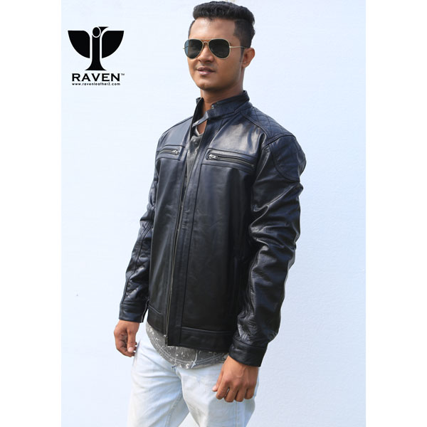 RR-10 Quilted-Motor-Cycle-Rider-Jacket-For-Men-Front-Side-1