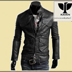RC:02 Men's Genuine Leather Multi-Pocket Moto Jacket
