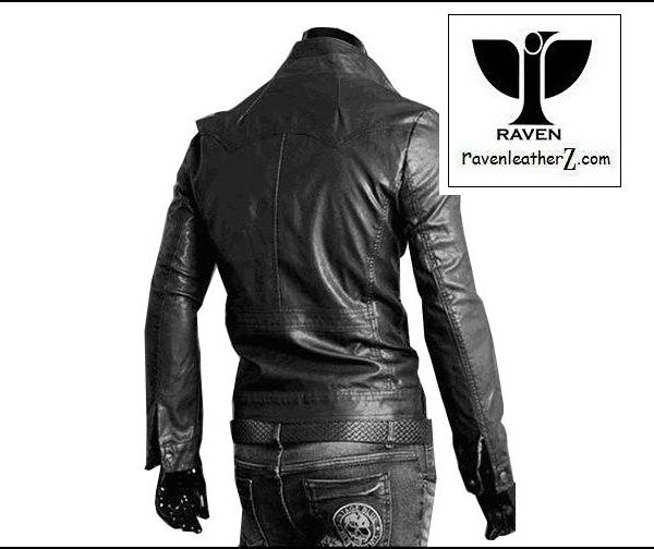 Back side of RAVEN Leather Jacket RC02