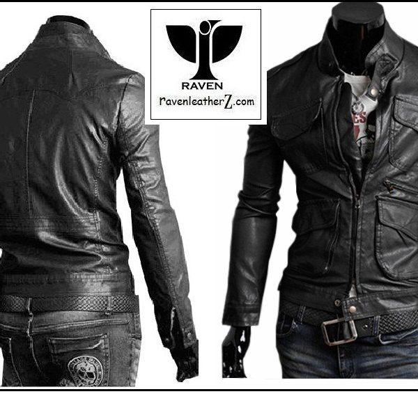 bothside view of raven-dhaka-leather-jacket-rc-02-bothside-view