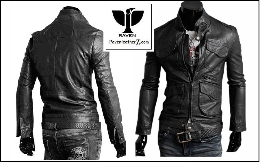 bothside view of raven-dhaka-leather-jacket-rc-02-bothside-view