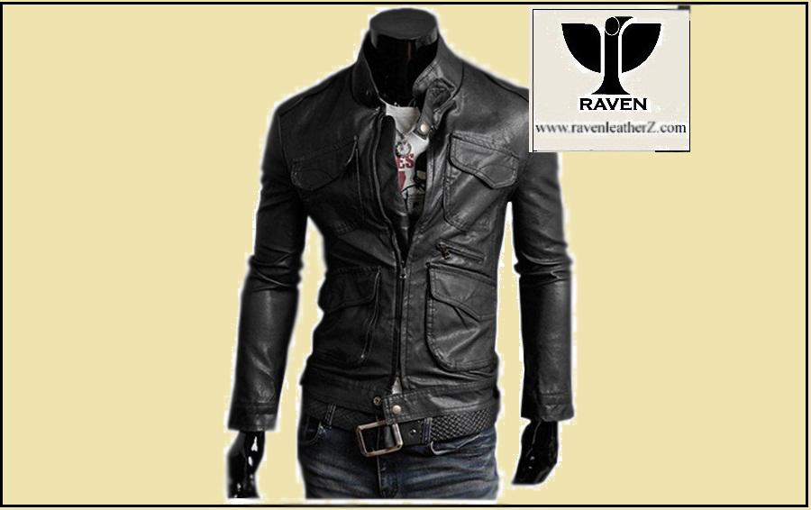 RC:02 Men's Genuine Leather Multi-Pocket Moto Jacket
