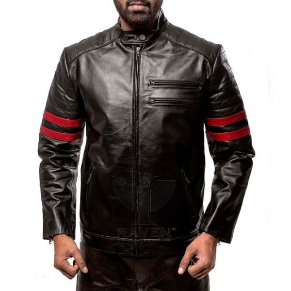 RA-02 Mens Genuine Leather Stylish Motor Rider Jacket