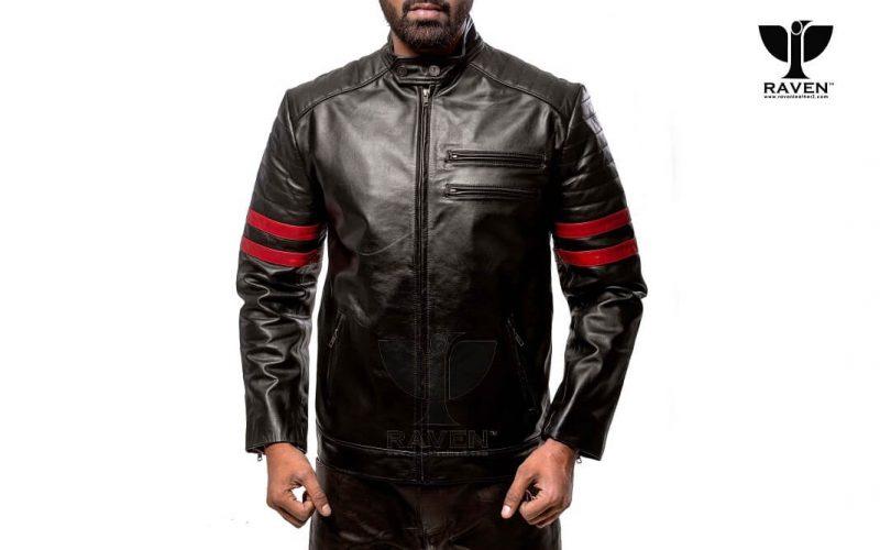 RA-02 Mens Genuine Leather Stylish Motor Rider Jacket