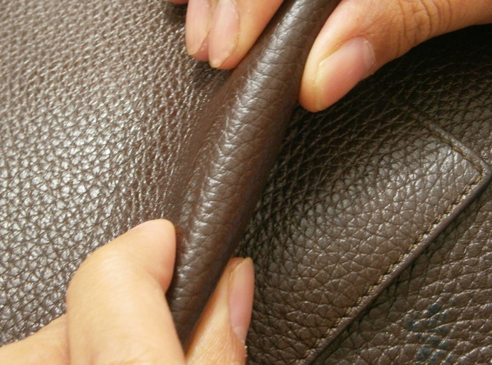 Genuine Leather Bend and Showing The Difference