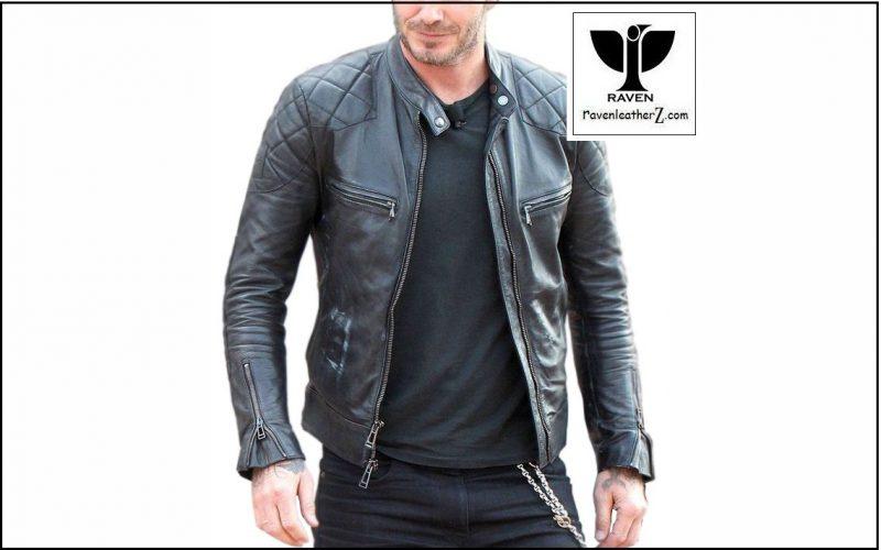 David beckham's leather jacket BR:02