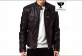 RAVEN RA:20 Men's Genuine Leather Slim Fit Biker Jacket
