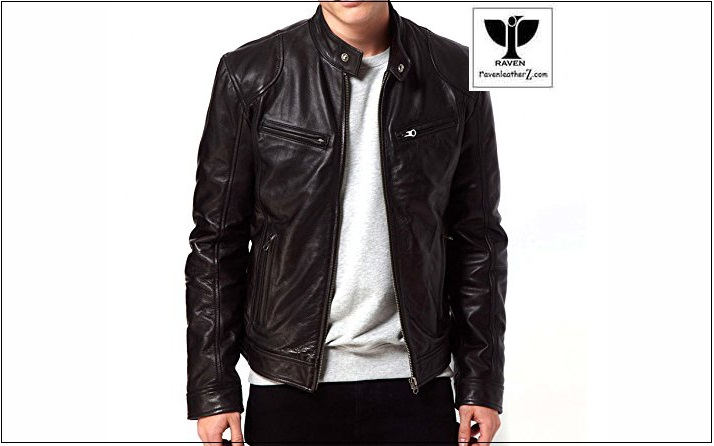 photo slim fit biker jacket RA:20