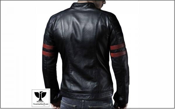 raven leather jacket from dhaka bangladesh which style no is ra02's back side view