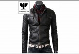 RC:04 Men's Genuine Leather Belted Style Collar Jacket