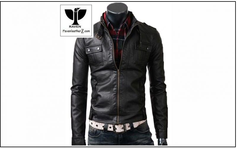 belted style collar jacket RC:04 photo