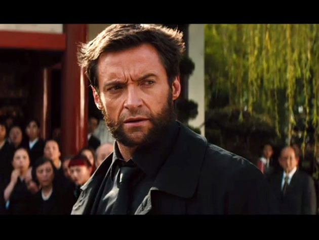 Hugh Jackman The Wolverine wearing leather jacket