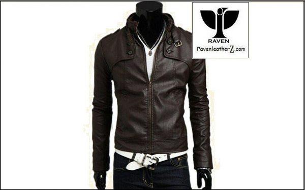 photo of slim fit motorcycle rider jacket RC:08