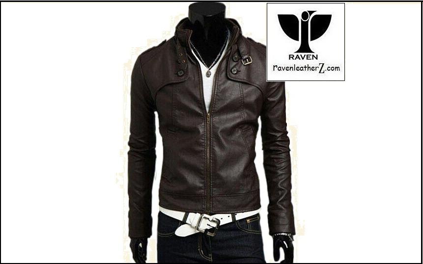 RC:08 Men's Genuine Leather Slim Fit Motorcycle Rider Jacket