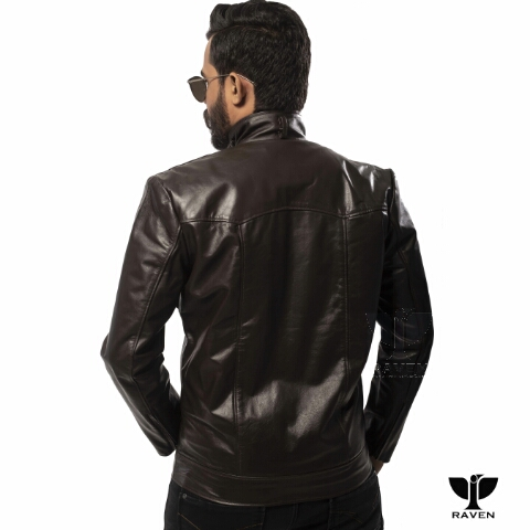 RC-08 Men's Genuine Leather Slim Fit Motorcycle Rider Jacket