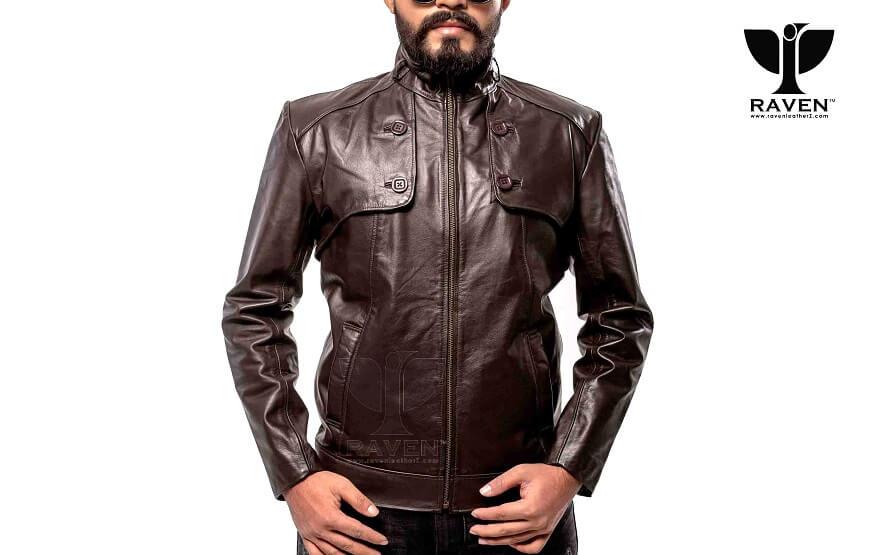 RC-08 Mens Genuine Leather Slim Fit Motorcycle Rider Jacket