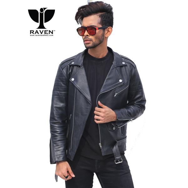 Black-Cropped-Biker-Jacket-With-Belt-Front-Side-Square-2