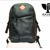 a Leather Backpack from Dhaka Bangladesh Navy Blue Color Front Side