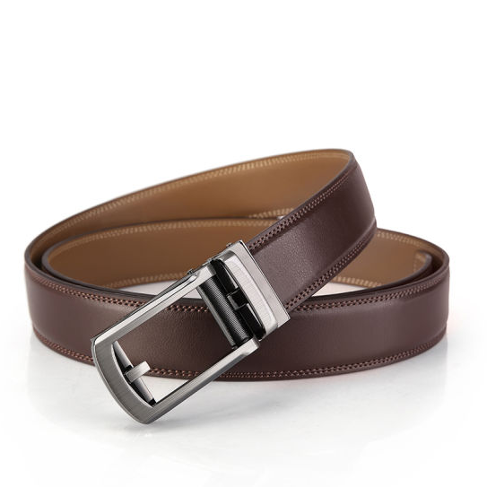 Dark Chocolate Color Executive Belt For Office Guys
