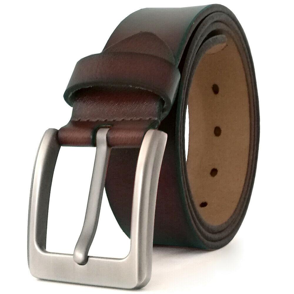 Dark Maroon Color Genuine Leather Belt For Men