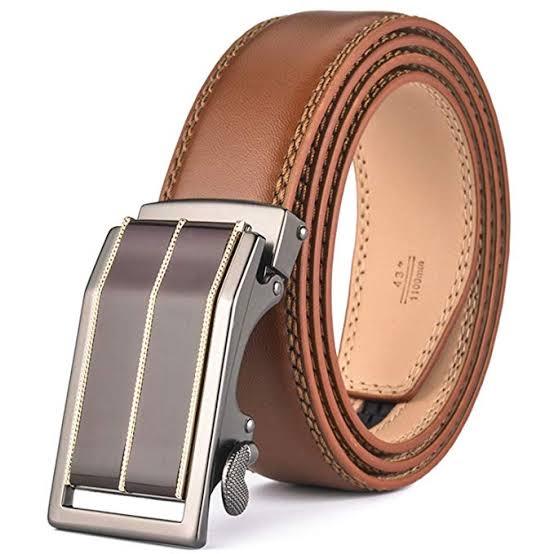 Dark Tan Color Casual Belt For Men in BD