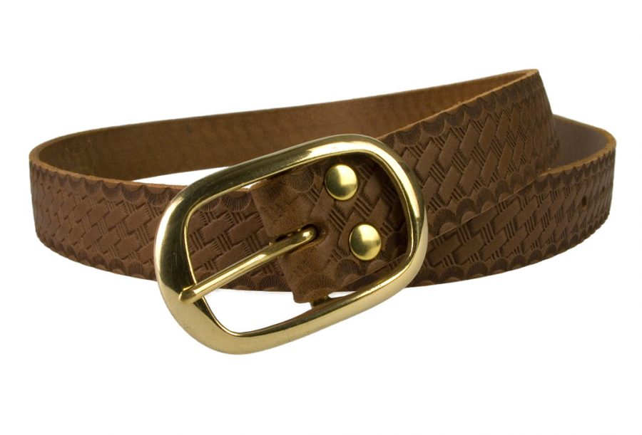 Ladies-Vintage-Basket-Weave-Leather-Belt-2