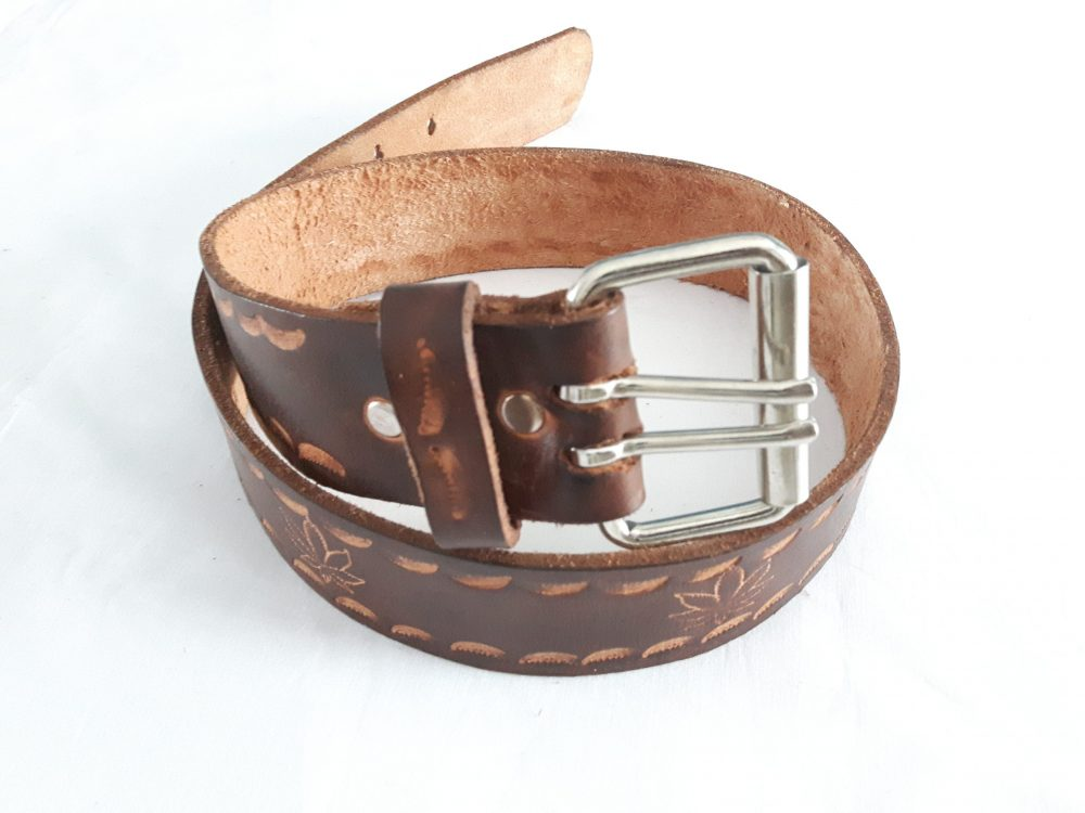 Vintage Look Hand Crafted Genuine Leather Belt For Men