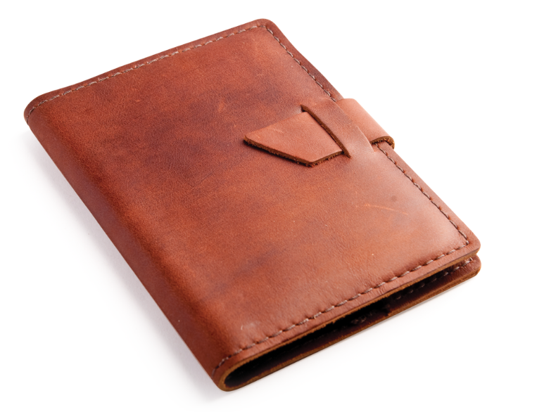 Reddish Tan Color Genuine Leather Dairy Cover