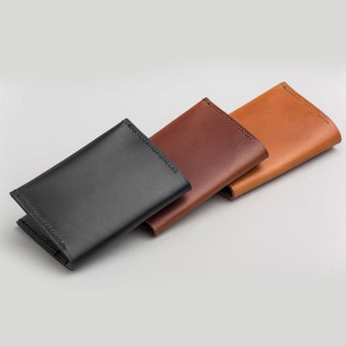 Black, Dark Vintage Brown, Tan Color Genuine Leather Cardholder