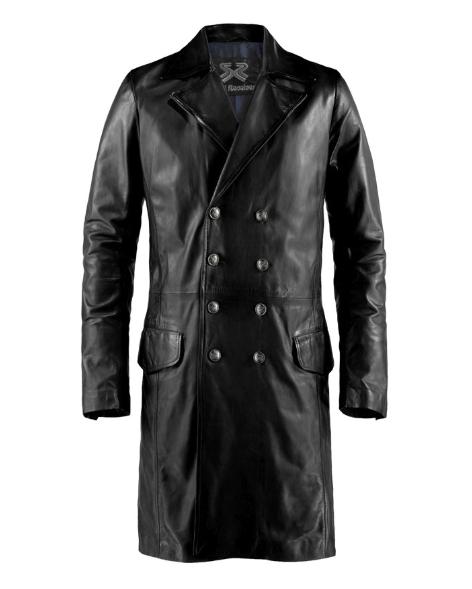 Genuine Leather Overcoat for men