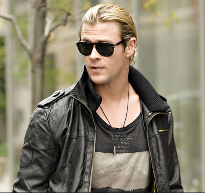 Chris Hemsworth's Black Leather Jacket