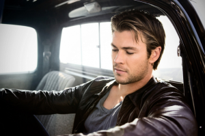 Chris Hemsworth's leather jacket photo